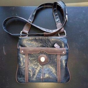 Mouflon Cross Body Urban Bag Black & Brown